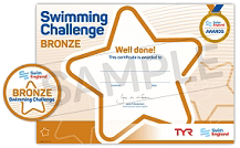 Swimming challenge bronze