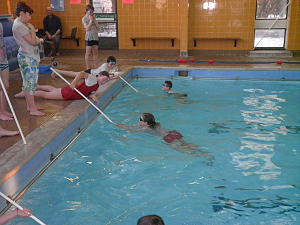 rookie swimmers and poles