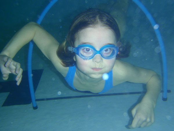 swimming lesson - swimmer under water at our swim school